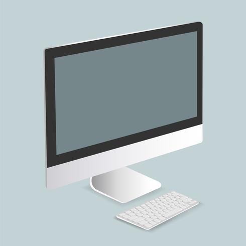 Vector van computerscherm pictogram