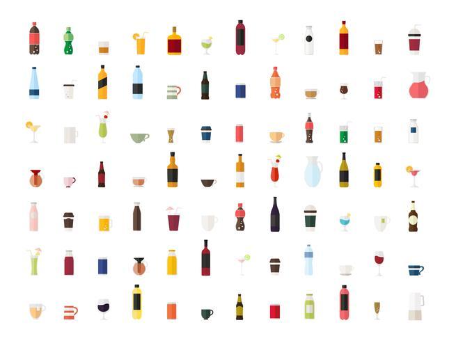 Collection de vecteurs de boisson