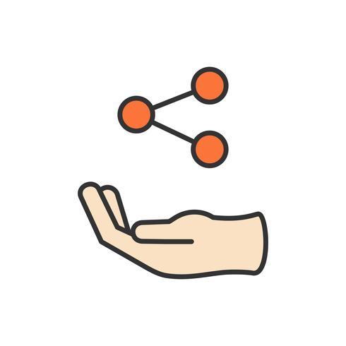 Ilustração, compartilhar, ícone