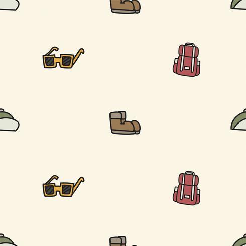 Stile di disegno dell'illustrazione della priorità bassa di campeggio delle icone
