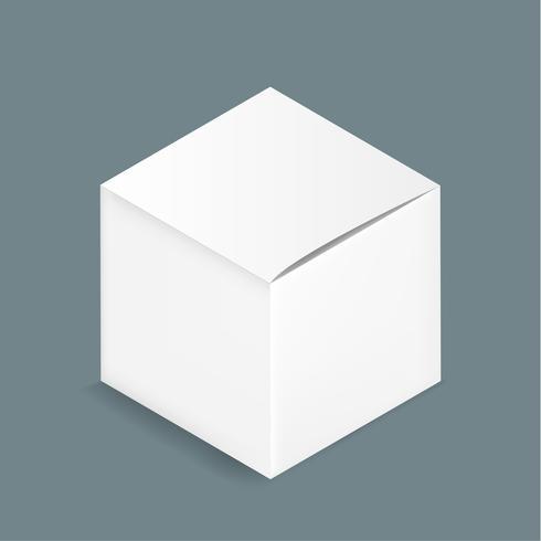 Vector de icono de caja contenedor blanco