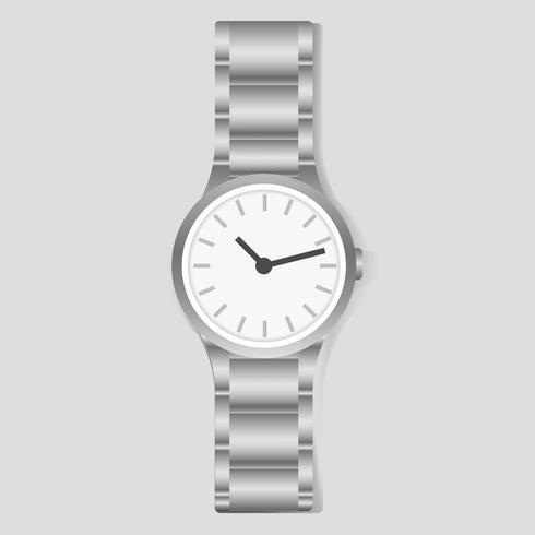 Vettore di moda accessorio tempo orologio da polso