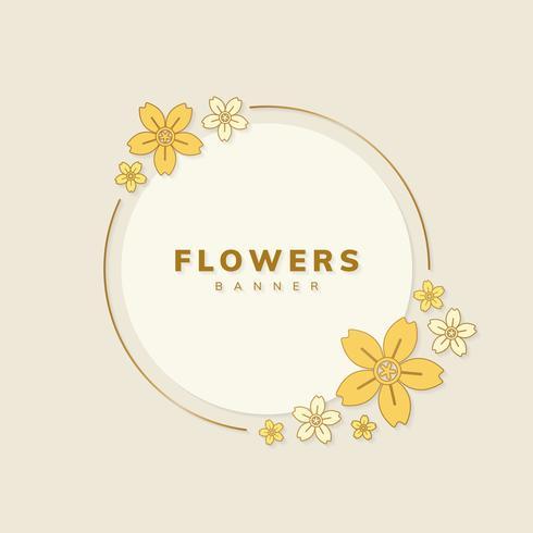 bloemen banner vector