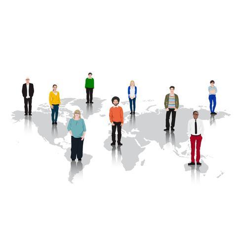 Illustration av olika människor