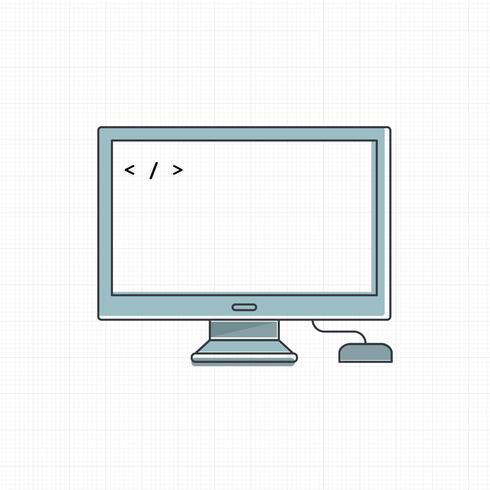 Vettore del dispositivo digitale del computer