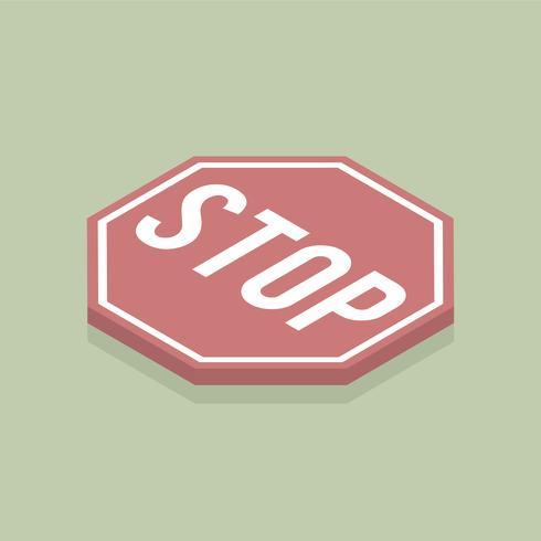 Vektor des Stoppschilds Symbol