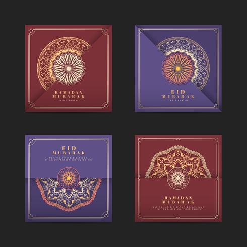 Colección de cartas Eid Mubarak.