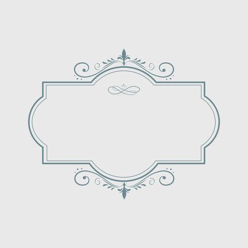 Vintage swirl blank badge