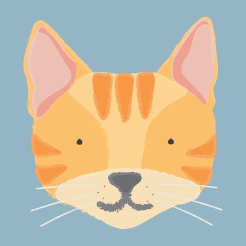 Illustratie van het hoofd van een kat