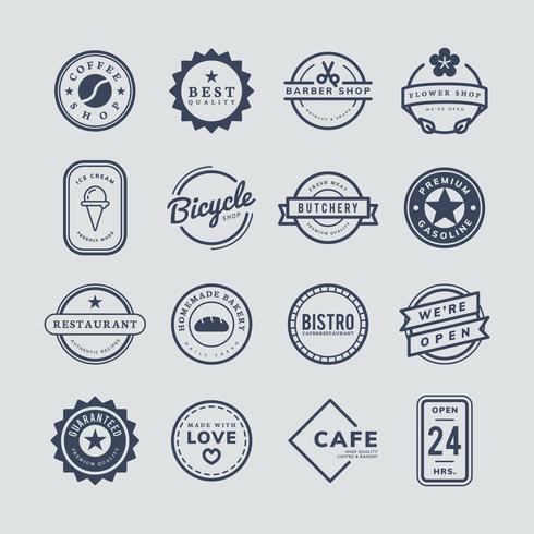 Raccolta di logo e vettori di badge
