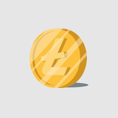 Vetor de símbolo de dinheiro eletrônico cryptocurrency Litecoin