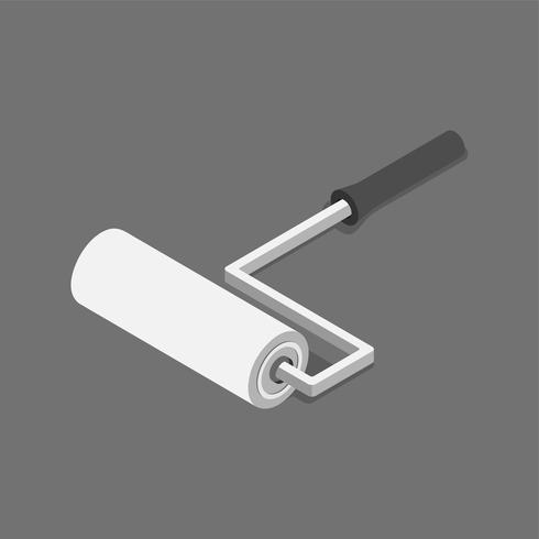 Vector icon of roller brush