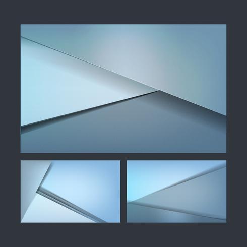 Set abstrakte Hintergrundauslegungen im Blau