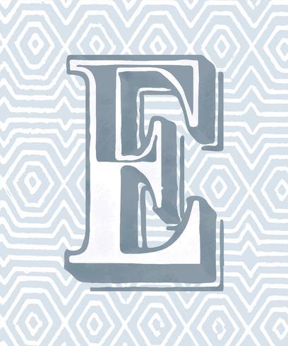 Vintage Typografie-Stil des Großbuchstaben E