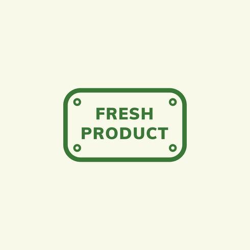 Producto fresco emblema insignia ilustración