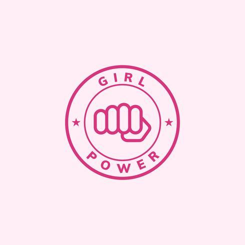Illustrazione del distintivo dell'emblema di potere della ragazza