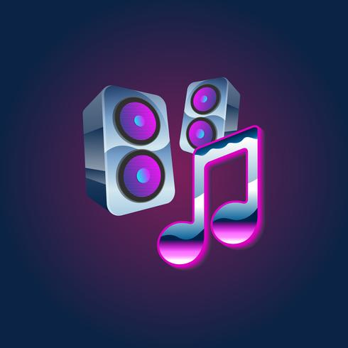 Muziek en sprekers vector
