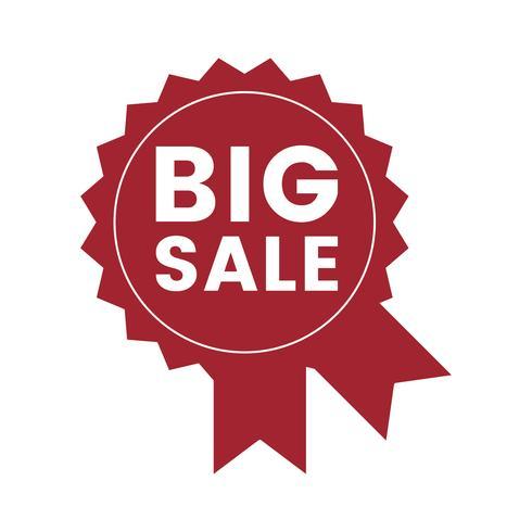Vetor de distintivo promocional de grande venda