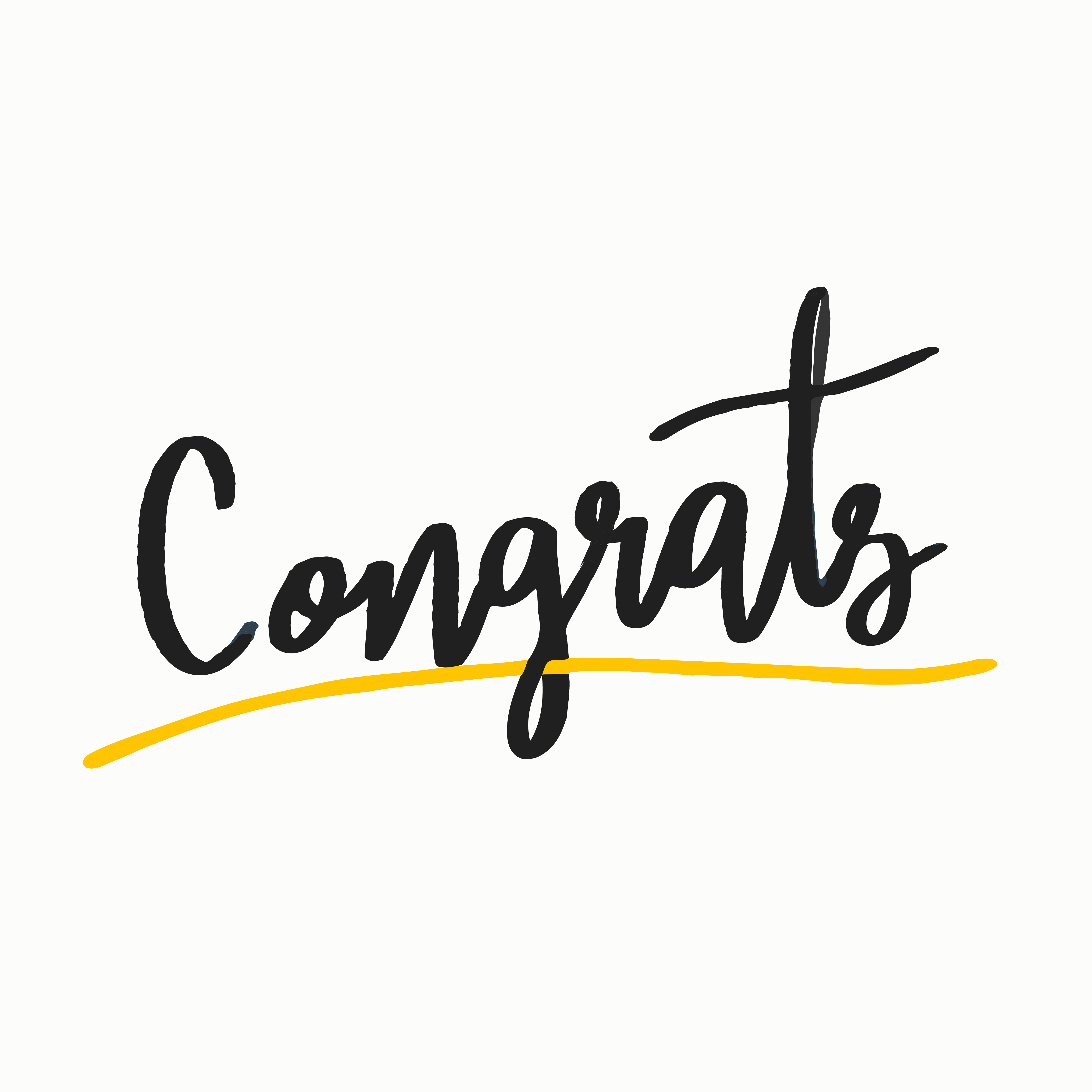 the word congrats typography vector in black