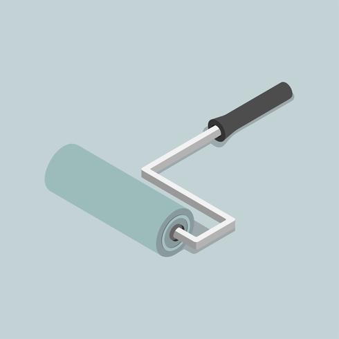 Icona di vettore della spazzola a rullo