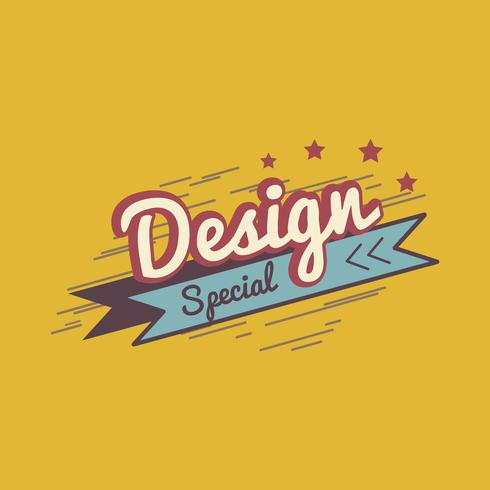 Special design badge logo vector