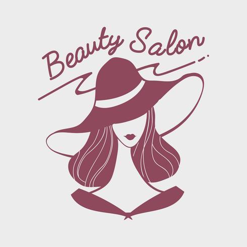 Dames schoonheidssalon logo vector