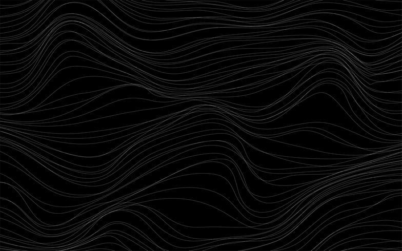 Vecteur de fond noir de textures d'onde
