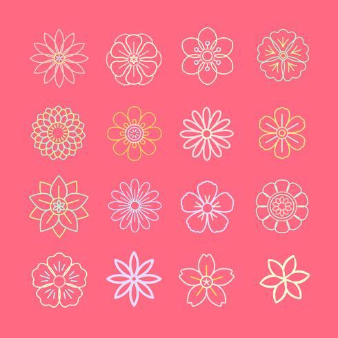 Bloemmotief en pictogrammen