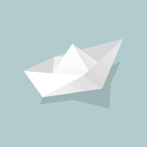 Vektor av pappersbåtikonen