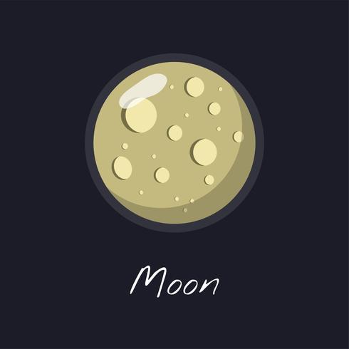 Der Mondvektor
