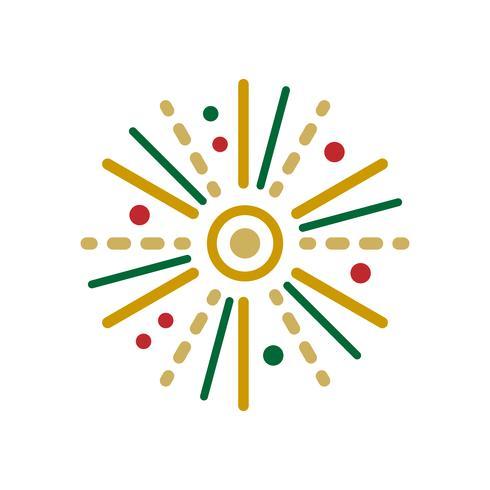 Conceito de evento de celebração de ícone de fogo de artifício