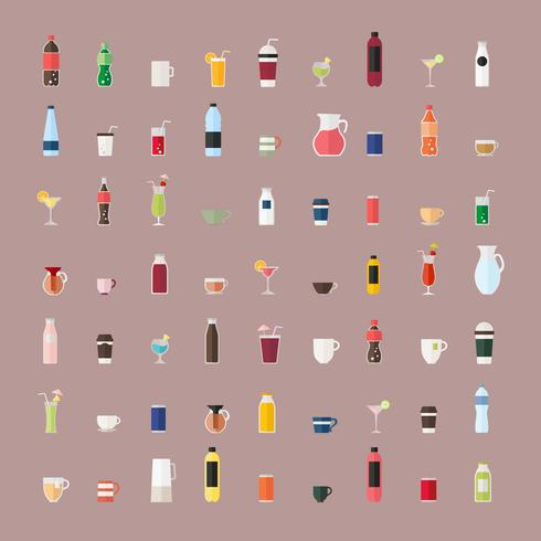 Collection of beverage vectors