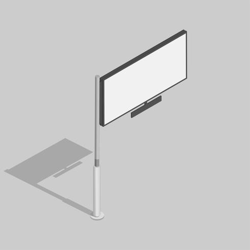 Vektor av skylt reklamikon