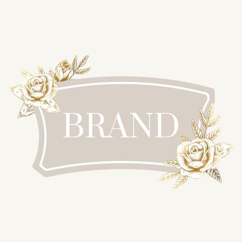 Vintage brand label