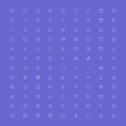 Conjunto de vetores de ícone do computador