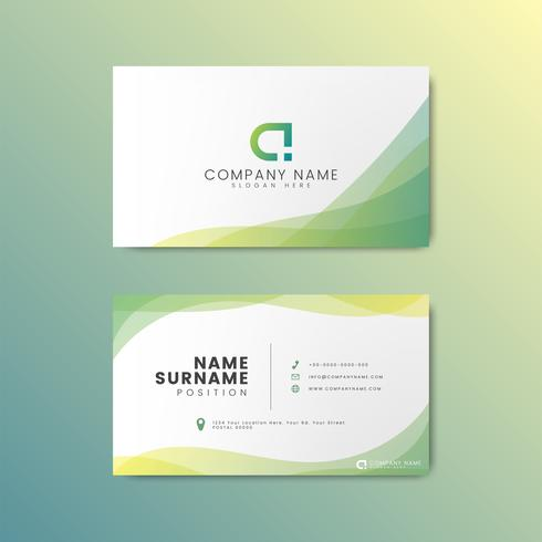 Minimal modern business card design featuring geometric elements