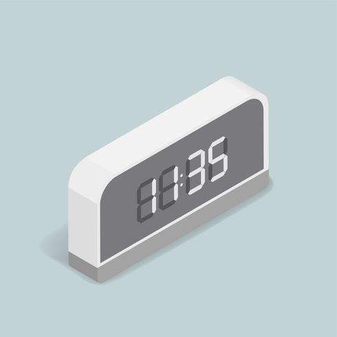 Imagem vetorial de ícone digital de despertador