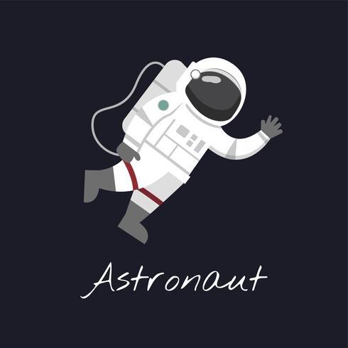 Astronaut im Weltraumvektor