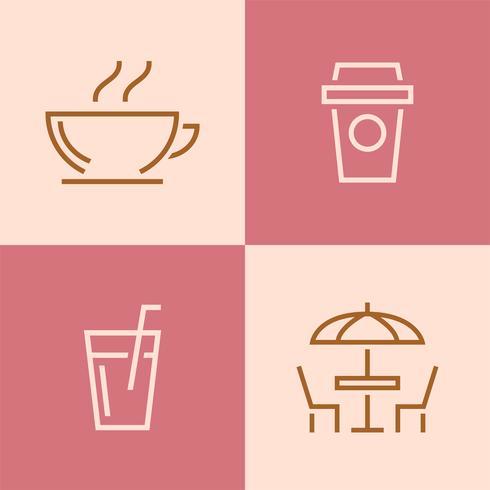 Set van restaurant pictogram vectoren