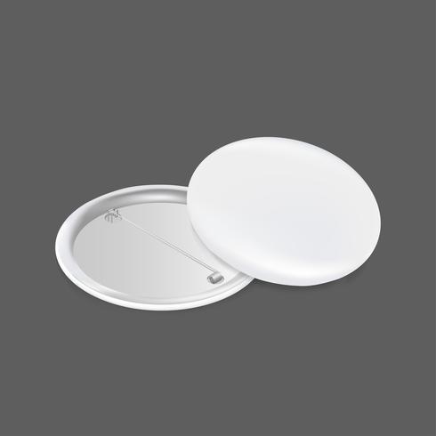Icona di vettore del distintivo bianco in bianco