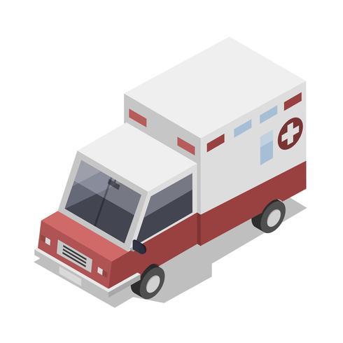Vector de icono de ambulancia 3D