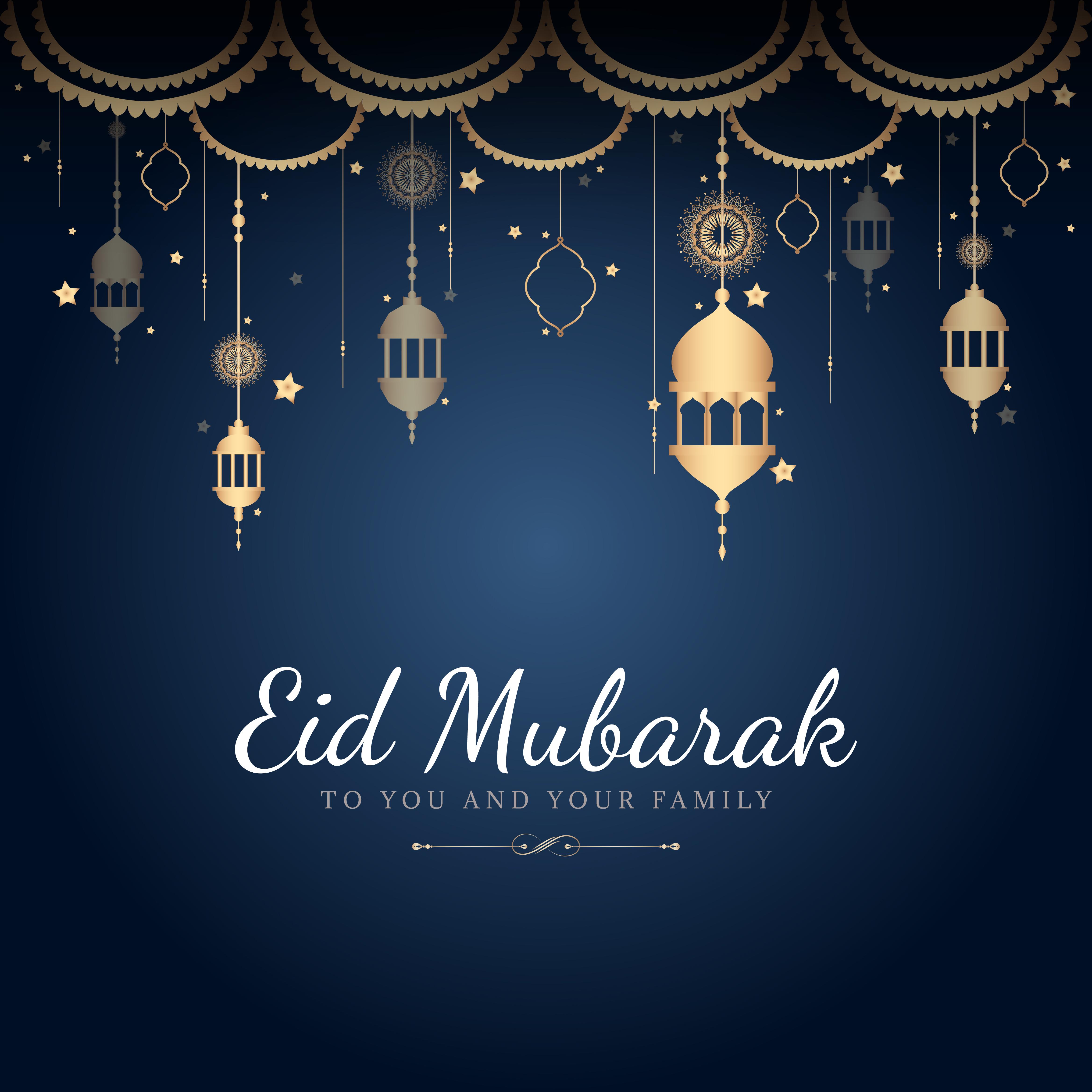 eid mubarak celebratory illustration  download free