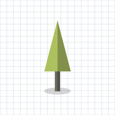Illustration av ett geometriskt formade träd