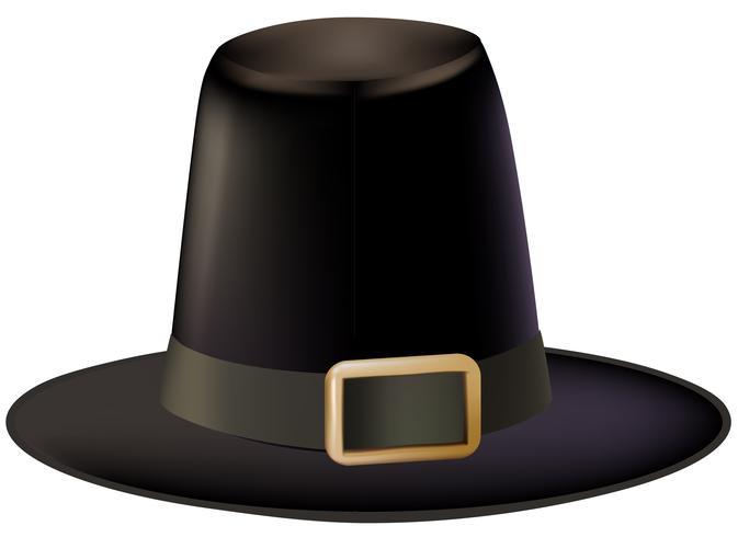 Illustration of pilgrim hat isolated on white background