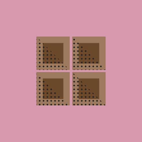 Barre de chocolat Icône Concept