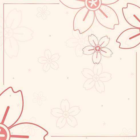 Orange flower pattern