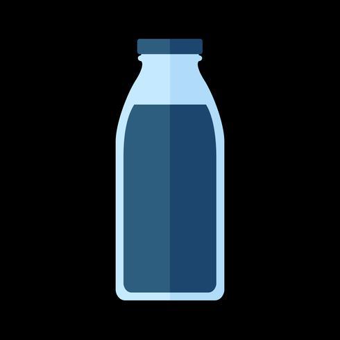 Eenvoudige illustratie van een gebotteld drankje