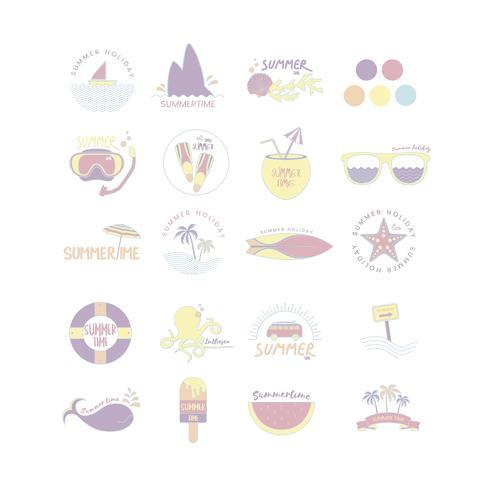 Vecteur d'icônes de l'été