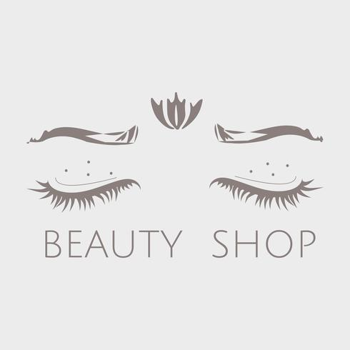 Vettore interno di logo del negozio di bellezza di consapevolezza