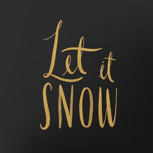 Let it snow vector typographie aquarelle